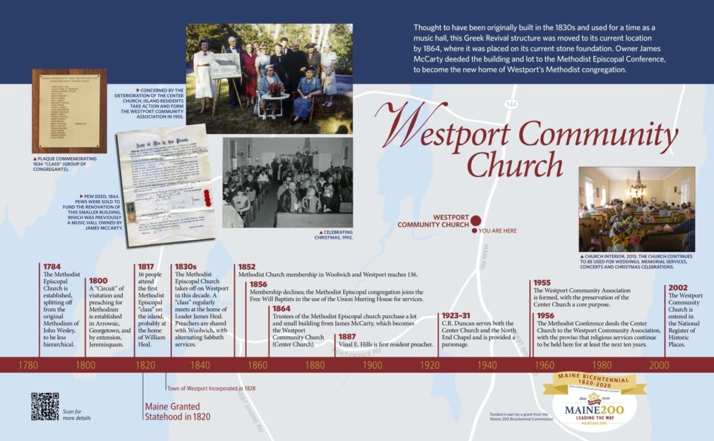 Westport Community Church interpretive display sign