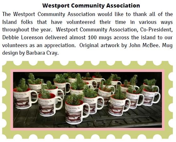 Appreciation mugs to island volunteers